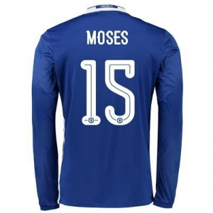 China Chelsea Linear Home Shirt 2016-17 - Long Sleeve with Moses 15 printing on sale