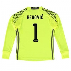 China Chelsea Linear Goalkeeper Shirt 16-17 - Kids with Begovic 1 printing on sale