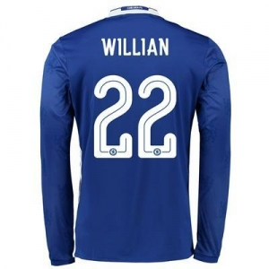 China Chelsea Linear Home Shirt 2016-17 - Kids - Long Sleeve with Willian 22 printing on sale