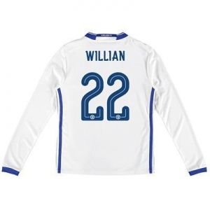 China Chelsea Linear Third Shirt 16-17 - Kids - Long Sleeve with Willian 22 printing on sale