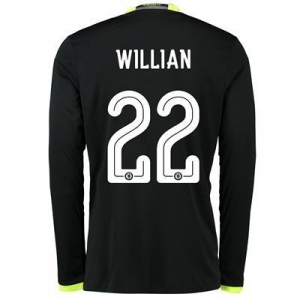 China Chelsea Linear Away Shirt 16-17 - Kids - Long Sleeve with Willian 22 printing on sale