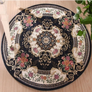 China Chenille rug mixture chenille home non-slip floor mat with EVA backing TMSR006 on sale