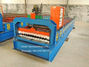 China 850 Corrugated Roofing Sheet Curving Machine corrugated iron roller on sale