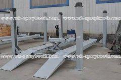 China 4 column hoist,four-post type car lifting machine,Secondary lifting on sale