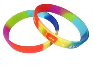China Segmented Silicone Wristband on sale