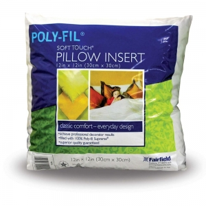 China FORMS AND FILLERS POLY-FIL Soft Touch 12 Pillow Insert - 30 x 30cm (12 x 12) on sale