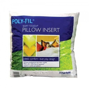 China FORMS AND FILLERS POLY-FIL Soft Touch 18 Pillow Insert - 46 x 46cm (18 x 18) on sale