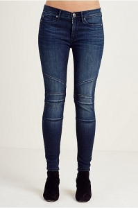 China NEW ARRIVALS HALLE SUPER SKINNY MOTO CROPPED WOMENS JEAN on sale