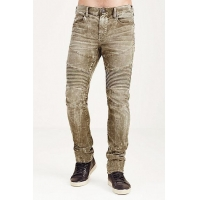 NEW ARRIVALS ROCCO SKINNY ACID WASH CORDUROY MOTO MENS PANT