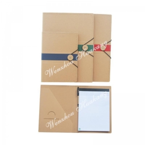 China Kraft paper folder with memo on sale