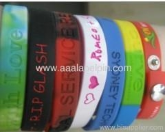 China Embossed Silicone Sport Wristband on sale