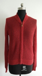 China Fashion Ladies Zip Cardigan Mohair Sweater on sale