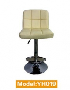 China Swivel Leather Bar Stool With Low Back on sale