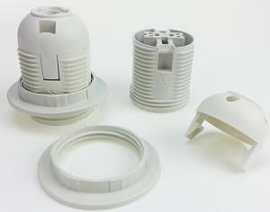 China Full threaded plastic lamp holder on sale