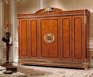 China Luxury Italian Antique Furniture E62 six door wardrobe on sale