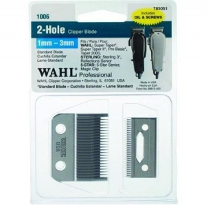 China Wahl 2-Hole Clipper Blade For Super Taper & 5 Star Senior (1mm - 3mm) #1006 on sale