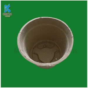 China Custom recycled fiber pulp flower pots and biodegradable pots on sale