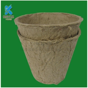 China Bio-degradable Bagasse/Paper Pulp Molded Gardening Flower Pots on sale