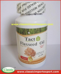 China Organic Flaxseed oil soft capsule private label on sale