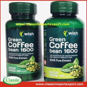 China Green Coffee Bean Extract Capsules private label on sale