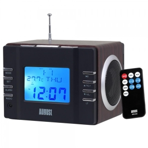 China MB300B Mini MP3 Musicbox with FM Clock Radio - Black on sale