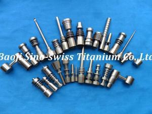 China CNC titanium precision parts titanium nails & Domeless nails on sale