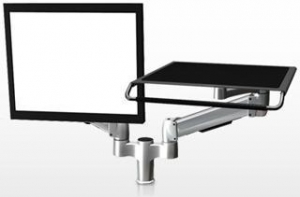 China SpaceCo SA02LP Dual SpaceArm Monitor Arm Laptop Platform on sale