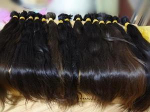 China virgin russian remy human hair bulk ~one bulk one piece on sale