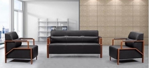 China Modern Design Leather Office Sofa Set on sale