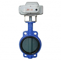 China electrically operated butterfly valve Electric Wafer-type Butterfly Valve on sale