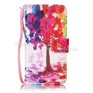 China Balloon Tree Leather Wallet Case for iPod touch iTouch 5 6 on sale