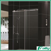 Frameless shower door enclosure