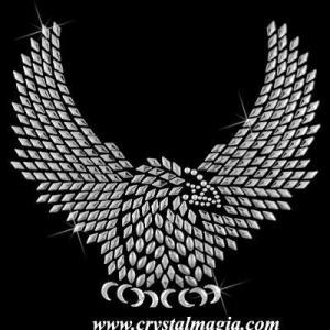China CMF-1314American eagle rhinestone motif on sale
