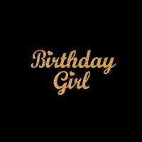 China Bulk price Wholesale customized Glitter Birthday Girl Rhinestone Motif Patternn for appare on sale
