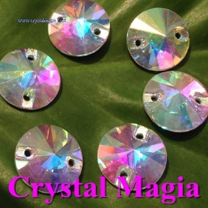 China 201459173248glass sew on strass 12mm rivoli on sale