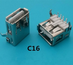 China 14.2MM 90 Degree USB Connector on sale