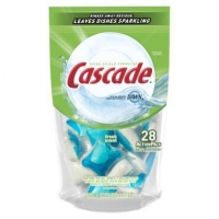 Cascade ActionPacs Citrus Scent Dishwasher Detergent, 28 ct
