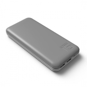China 15000 mAh Power Bank, Puridea S3 Series Dual USB Portable Charger External Battery Backup Pack Gray on sale