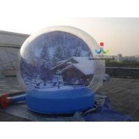 China 0.8mm transparent pvc advertising Christmas gift cover inflatable bubble tent for trade show on sale