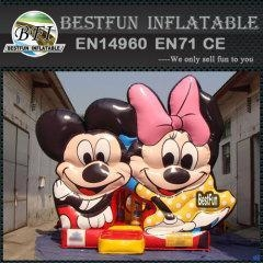 China Mickey minnie mouse inflatable bouncer for kids on sale
