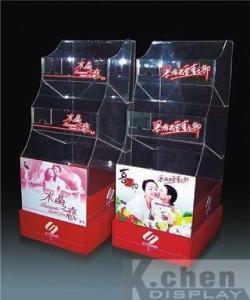 China Acrylic POS display KC-013 Acrylic rack/book display on sale