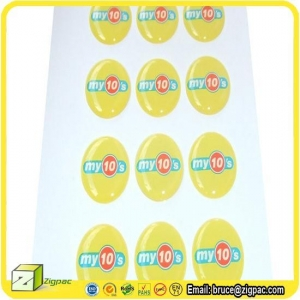 China Wall Stickers & Decals Item epoxy resin self adhesive dome sticker on sale