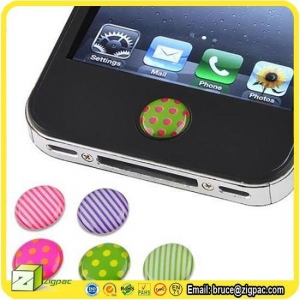China Wall Stickers & Decals Item home button sticker for iphone 4 on sale