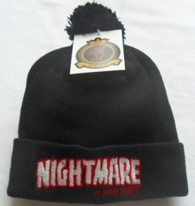 China black knitted beanie hat on sale