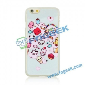 China Hot Selling Cute Cartoon Elements and Beads Hard Plastic Case for iPhone 6 Plus on sale