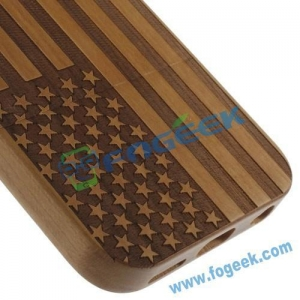 China New Design Rosewood American Flag Cover for iPhone 6 4.7 Inch on sale