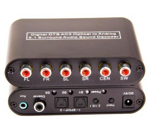 China Digital DTS AC3 Optical to Analog 5.1 Surround Audio Sound Decoder on sale