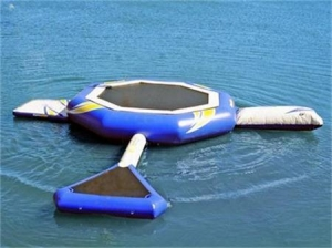 China Commercial 14 Foot Inflatable Water Trampoline Combos for Sale on sale