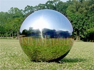 China Full Color Silver Large Mirrorr Inflatable Advertising Balloons on sale
