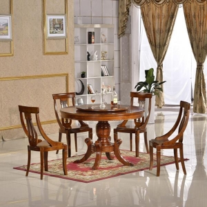 China Dining room set Malaysia dining table set with lazy susan on sale